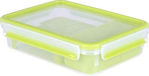 Emsa Clip&Go Brunchbox - Recipiente hermético para el aperitivo y bocadillo.