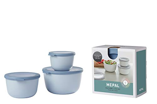 Mepal Cirqula - Juego cuencos 3 piezas multiusos (500, 1000, 2000 ml)