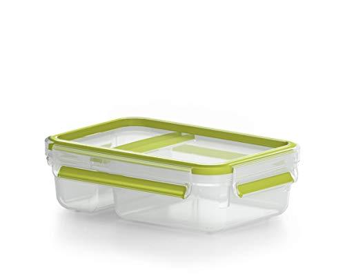 Emsa Clip&Go Yoghourtbox - Recipiente hermético con separador plegable.