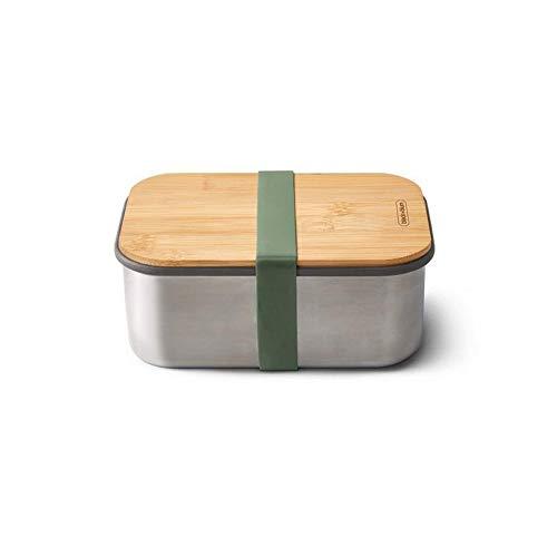 Black+Blum - Recipiente hermético con compartimentos y tapa de bambú de 1,25 L.