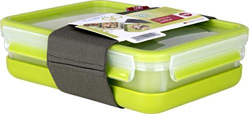Emsa Lunchbox - Recipiente hermético 3 compartimentos y bandeja de 1,2 L.