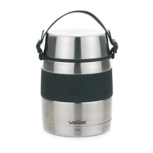 Valira 6615 - Termo para sólidos con 2 contenedores interiores, 1 L