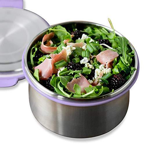 LunchBots - Recipiente hermético para ensalada y salsas de Acero Inoxidable.
